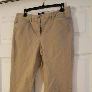Lands End cropped khaki pants